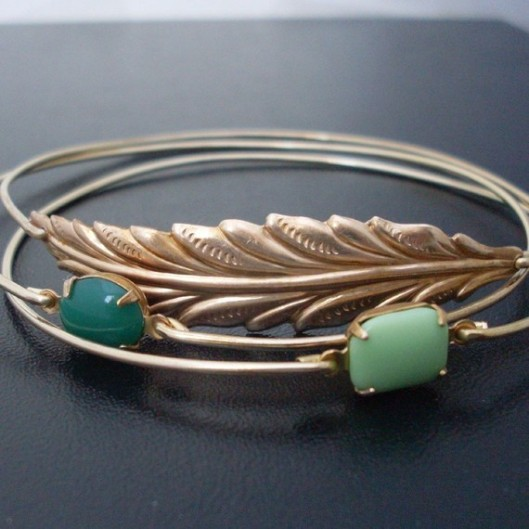 Woodland Bangle Bracelet Set by Frosted Willow