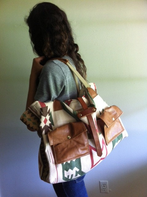 Arrows Design tribal tote via Etsy