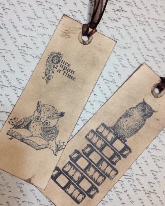 Vintage Style Owl Bookmark-Hand inked by House O Krause