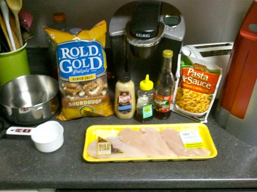 Honey Mustard Pretzel Chicken ingredients