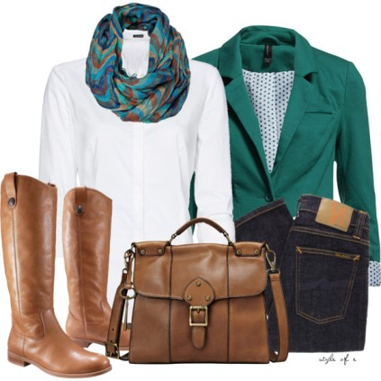 green blazer business casual