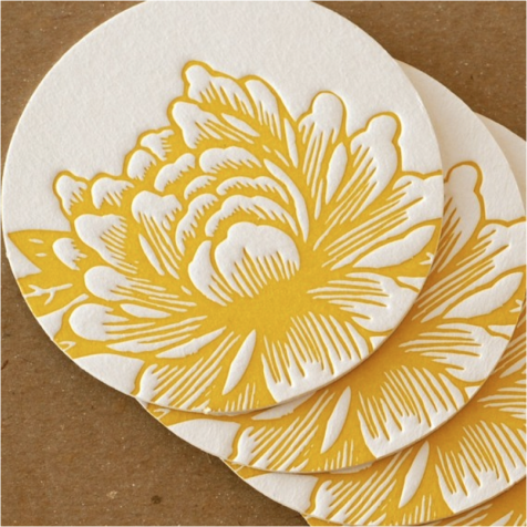 etsy flower coasters