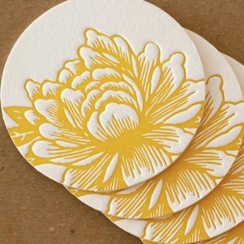 etsy flower coasters