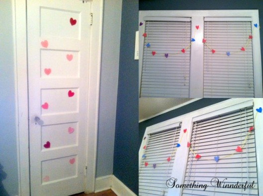 Valentine's paint chip garland