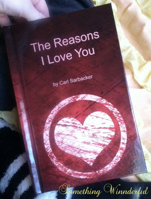The Reasons I Love You book created on lovebookonline.com