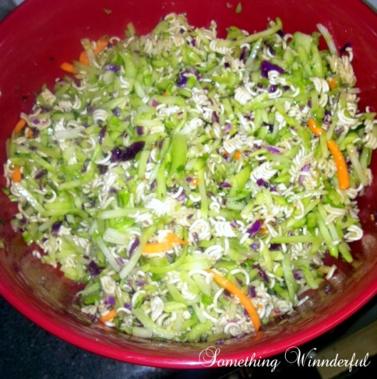Asian broccoli cole slaw
