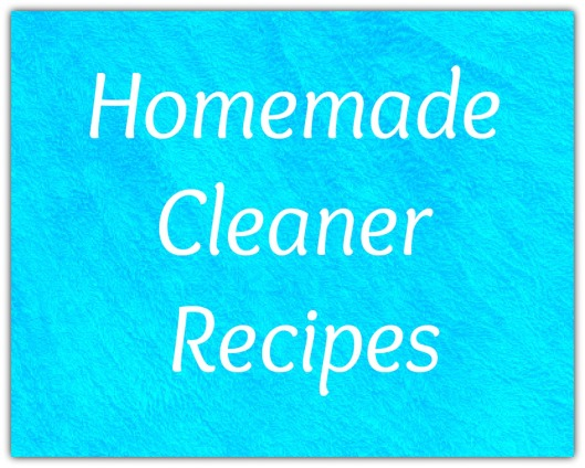 Homemade cleaner recipes