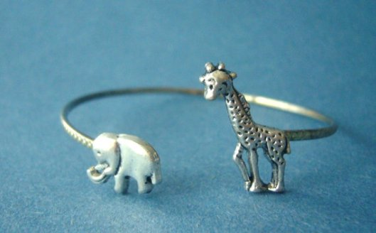 Elephant and Giraffe bracelet by Stavri